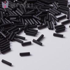 Koraliki Miyuki Bugles #2 6 mm Black Matted