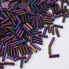 Koraliki Miyuki Bugles #2 6 mm Metallic Purple Iris