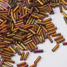 Koraliki Miyuki Bugles #2 6 mm Metallic Gold Iris