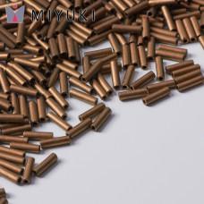 Koraliki Miyuki Bugles #2 6 mm Matted Metallic Dk Bronze
