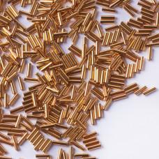 Koraliki Miyuki Bugles #2 6 mm 24kt. Gold Plated