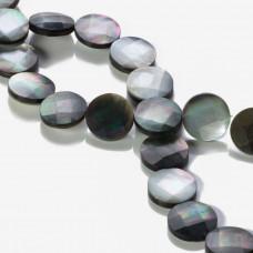 Masa perłowa krążek fasetowany stalowy 15mm