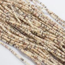 Krążki z muszli kremowo-brązowe 3mm