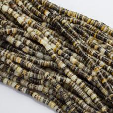 Krążki z muszli brązowo-szare 5mm