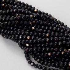 Masa perłowa czarna kulka opalizująca 6mm