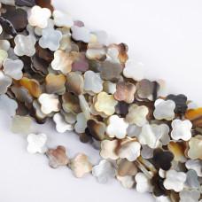 Masa perłowa opalizująca koniczynka marokańska 14mm beżowa