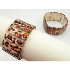Bransoletka z masy perłowej prostokąty tygrysie 35mm
