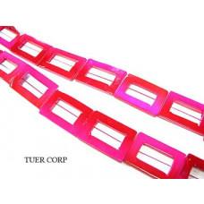 Masa perłowa prostokąt różowy 30mm