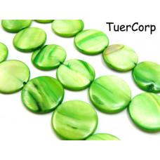 Masa perłowa krążek zielony 20mm