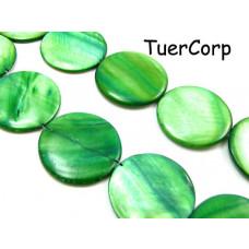 Masa perłowa krążek zielone 30mm