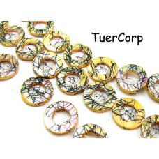 Masa perłowa koło malowane złote 17mm