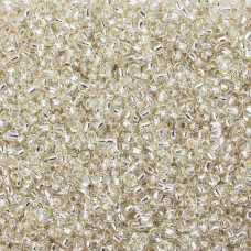 Koraliki Matsuno round Silver Lined Crystal 10/0