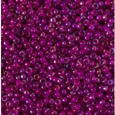 Koraliki NihBeads 12/0 Inside-Color Rainbow Black Diamond/ Fucia Line