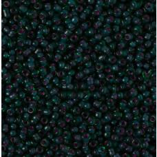 Koraliki NihBeads 12/0 Inside-Color Grass Green/ Fucia Line