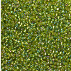 Koraliki NihBeads 12/0 Silver-Lined SH Trans-Rainbow Lime
