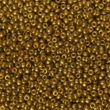 Koraliki NihBeads 12/0 Metallic Frosted Gold Topaz