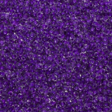 Koraliki NihBeads 12/0 Inside-Color Crystal/ Purple Line