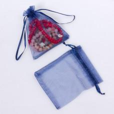 Woreczek z organzy do biżuterii 10x12cm niebieski