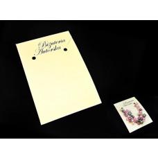 """Kartonik do małego naszyjnika z napisem """"Biżuteria Autorska"""""""