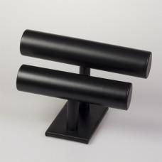 Ekspozytor na bransoletki podwójny czarny 17x25cm