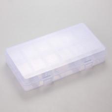 Pudełko plastikowe 13 przegródek 21x11cm