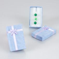 Błękitne pudełko z kokardką 5x8cm