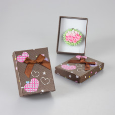Pudełko present for you czekoladowe 7x9cm