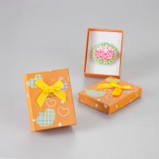 Pudełko present for you pomarańczowe 7x9cm