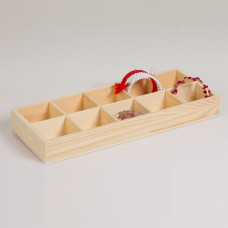 Ekspozytor drewniany 10 komorowy 34x13.5 cm