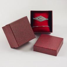Pudełko do biżuterii ozdobne z poduszką czerwone 8,5x8,5cm