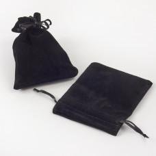 Woreczek ozdobny do biżuterii czarny 9x12cm