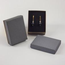 Pudełko do biżuterii ozdobne prostokątne szare 7x9cm