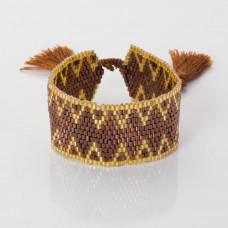 Bransoletka boho 13 rzędowa z koralików Matsuno 17-27cm