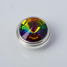 Srebrna wpinka Kaleidoskop Swarovski vitrail medium 10mm