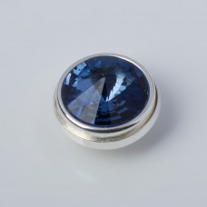 Srebrna wpinka Kaleidoskop Swarovski denim blue 10mm
