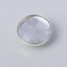 Srebrna wpinka Kaleidoskop Swarovski chessboard crystal 10mm