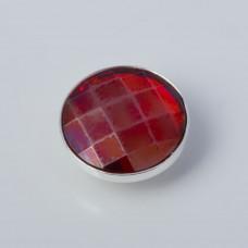 Srebrna wpinka Kaleidoskop Swarovski chessboard red magma 10mm