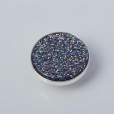 Srebrna wpinka Kaleidoskop mutikolor brokat 10mm