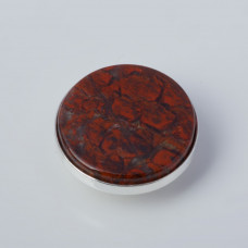 Srebrna wpinka Kaleidoskop jaspis  10mm