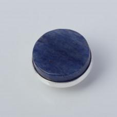 Srebrna wpinka Kaleidoskop dumortieryt niebieski 10mm