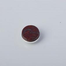 Srebrna wpinka Kaleidoskop jaspis czerwony 10mm