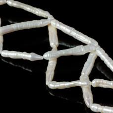 Perła naturalna patyczki białe 35-36mm