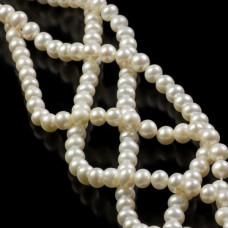 Perły naturalne okrągłe białe 7-8mm