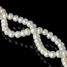 Perła naturalna button biała 10-11mm