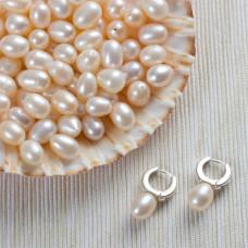 Naturalne perły do kolczyków krople 8-9mm