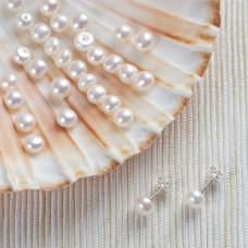 Naturalne perły do kolczyków 5,5-6mm