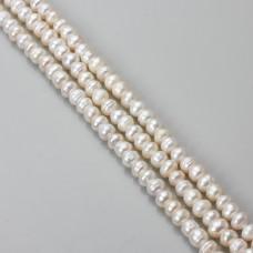 Perły naturalne button 5-7mm białe