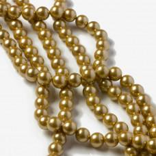 Perły seashell złociste 7.5 mm