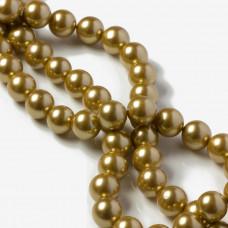 Perły seashell złociste 10mm