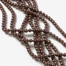 Perły seashell kulki ciemny cynamon 4mm